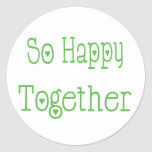 So Happy Together Love Green Wedding Sticker