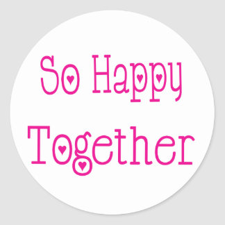 So Happy Together Love Wedding Sticker