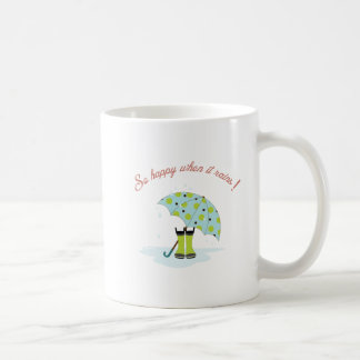 So Happy When It Rains! Classic White Coffee Mug