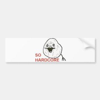 So Hardcore Car Bumper Sticker