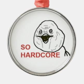 So Hardcore Comic Face Metal Ornament