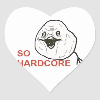 So Hardcore Heart Sticker