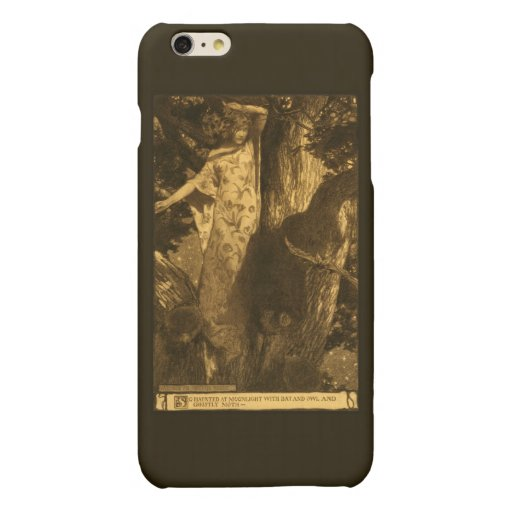 So Haunted Ghostly Dryad Girl Halloween Moonlight Matte iPhone 6 Plus Case