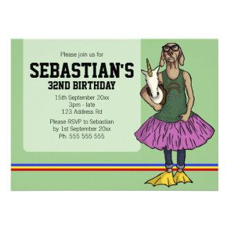 So Hip 5 5x7 5 birthday Personalized Invite