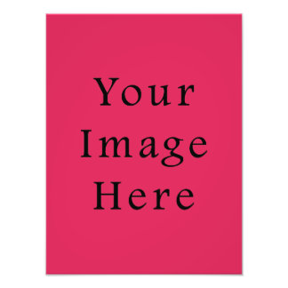 So Hot Pink Color Trend Blank Template Photo Print