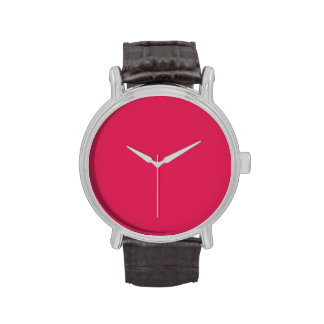 So Hot Pink Color Trend Blank Template Wristwatches