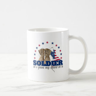 so i gave my heart to a soldier classic white coffee mug