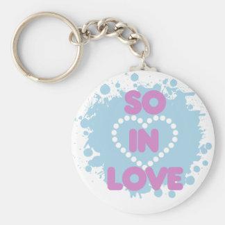 So in LOVE Basic Round Button Keychain