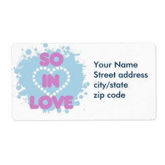So in LOVE Shipping Label