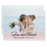 So in Love | Wedding Thank You Photo Card