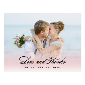 So in Love | Wedding Thank You Photo Postcard