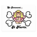 so innocent it hurts postcards