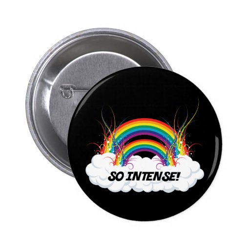 SO INTENSE DOUBLE RAINBOW 2 INCH ROUND BUTTON