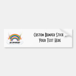 SO INTENSE DOUBLE RAINBOW BUMPER STICKER