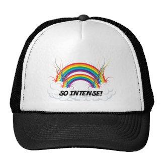 SO INTENSE DOUBLE RAINBOW TRUCKER HAT