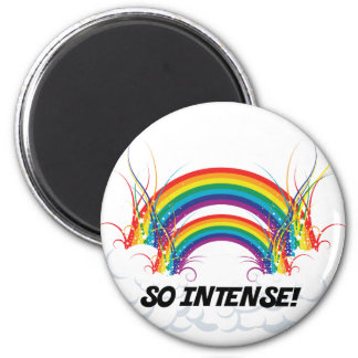 SO INTENSE DOUBLE RAINBOW 2 INCH ROUND MAGNET