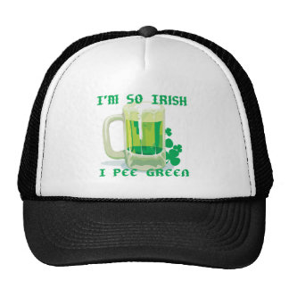 so irish i pee green trucker hat