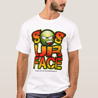 So Is Your Face, Smiley Green Yellow Red T-Shirt