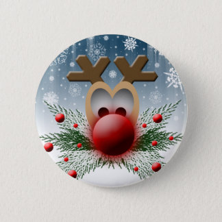 So It Glows Reindeer Xmas Holiday Christmas Pinback Button