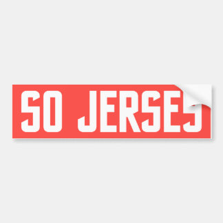 So Jersey Bumper Sticker