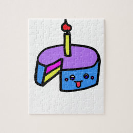 SO KAWAII bday cake Jigsaw Puzzle