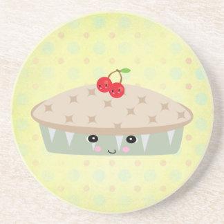 so kawaii cherry pie beverage coaster