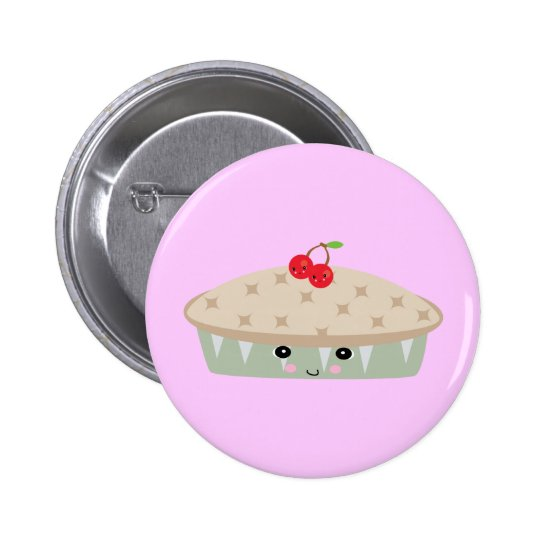 so kawaii cherry pie button