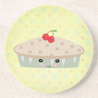so kawaii cherry pie drink coaster