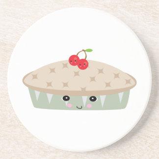 so kawaii cherry pie drink coasters