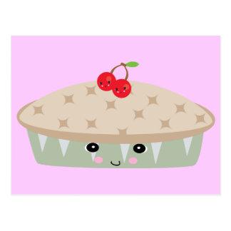 so kawaii cherry pie postcard