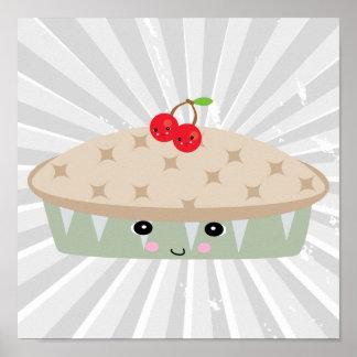 so kawaii cherry pie poster
