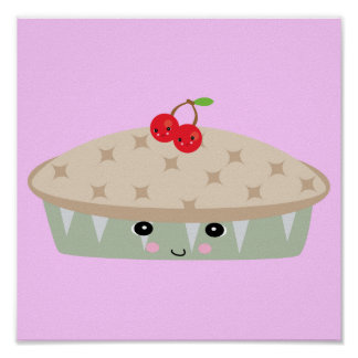 so kawaii cherry pie posters