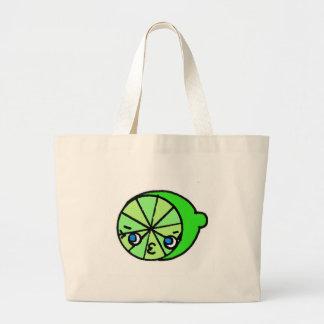 SO KAWAII lime Large Tote Bag