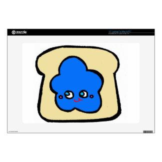 SO KAWAII toast blueberry jam Laptop Decal