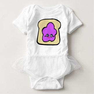 SO KAWAII toast grape jam Baby Bodysuit