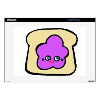"SO KAWAII toast grape jam Skins For 15"" Laptops"