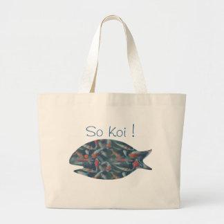 SO KOI ! by SHARON SHARPE Large Tote Bag