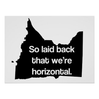 So Laid Back We're Horizontal MN Funny Poster