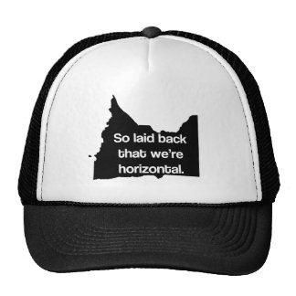 So Laid Back We're Horizontal MN Funny Trucker Hat