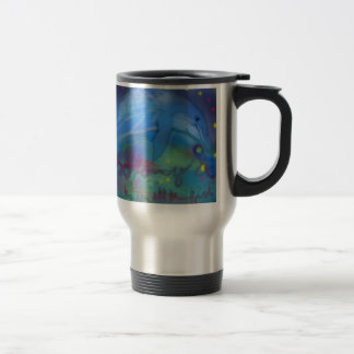 So long and thanks for all the fish! 15 oz stainless steel travel mug