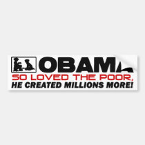 So Loved The Poor! Car Bumper Sticker