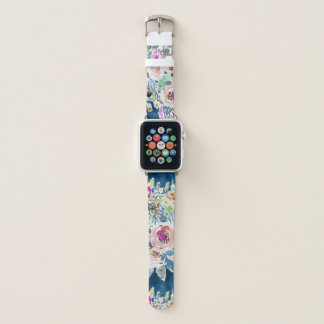 SO LUSCIOUS Colorful Navy Boho Floral Pattern Apple Watch Band