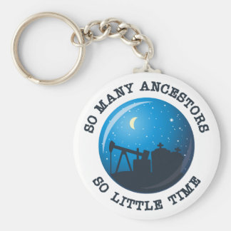 So many Ancestors. So Little Time. Keychain