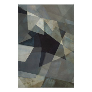 So Many Angles Digital Overlay Abstract Art Poster