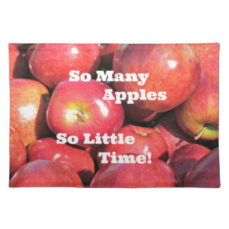 So Many Apples, So Little Time! Placemat