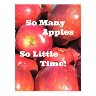 So Many Apples, So Little Time! Postcard