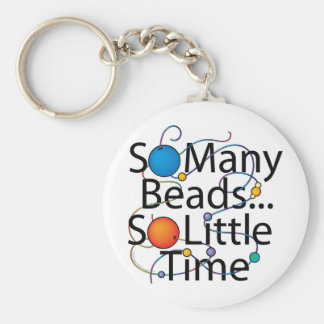 So Many Beads New Basic Round Button Keychain