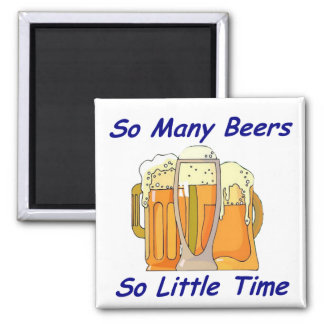 So Many Beers, So Little Time Magnet