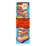 So Many Books Customizable Bookmarks Business Card Templates