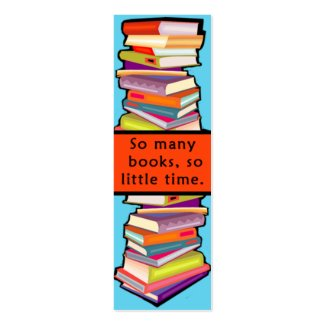 So Many Books Customizable Bookmarks Double-Sided Mini Business Cards (Pack Of 20)
